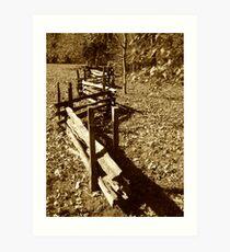 Zig Zag Wood Fence Art Print