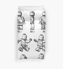 Funda nórdica Lego Man Patent - Lego Bricks Art - Blanco y Negro