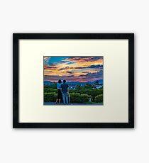 After storm sunset Framed Art Print