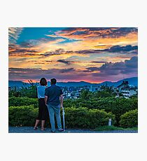 After storm sunset Photographic Print