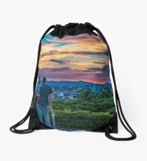 After storm sunset Drawstring Bag