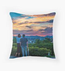 After storm sunset Throw Pillow