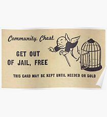 "Monopoly ""Get Out of Jail"" Poster"