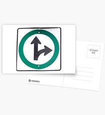 Right turn Postcards