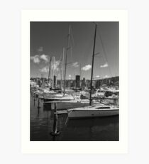 Yacht Masts Art Print