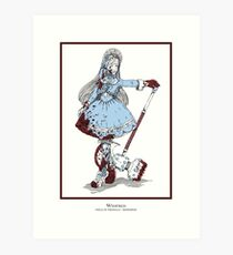 Winifred - The Berserker (bloody version) Art Print