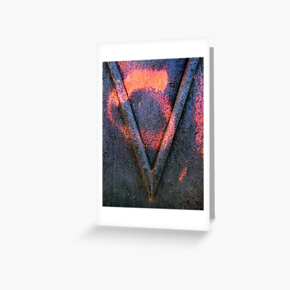 Letter V Greeting Card
