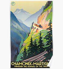 Vintage Travel Poster France - Chamonix-Martigny  Poster
