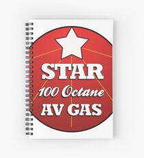 Retro Aviation Logo Spiral Notebook