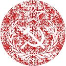 Super Used Hammer & Sickle Communist Flag by Chocodole