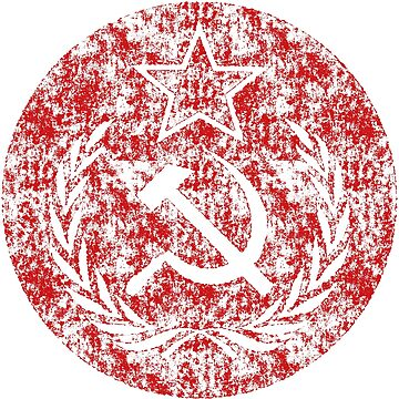 Super Used Hammer & Sickle Communist Flag by Chocodole