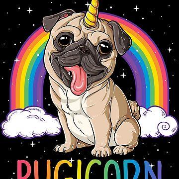 Pugicorn Pug Unicorn T shirt Kids Women Space Galaxy Rainbow by LiqueGifts