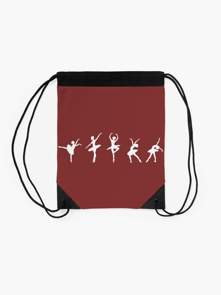 Alternate view of Ballet Evolution, Ballerina Dancer, Moves Artwork, Tshirts, Posters, Prints, Women, Men, Kids Drawstring Bag
