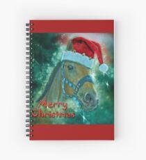 Horse Christmas card Spiral Notebook