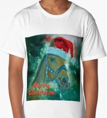 Horse Christmas card Long T-Shirt