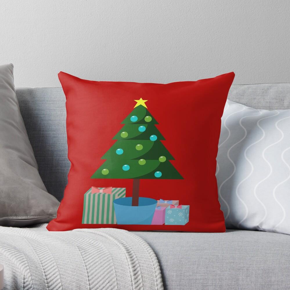 Weihnachtsbaum in Hülle und Fülle Dekokissen