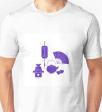 Chinese lantern, kettle, cups, fan, kagami mochi. Unisex T-Shirt