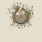 Celtic Initial V by Thoth Adan