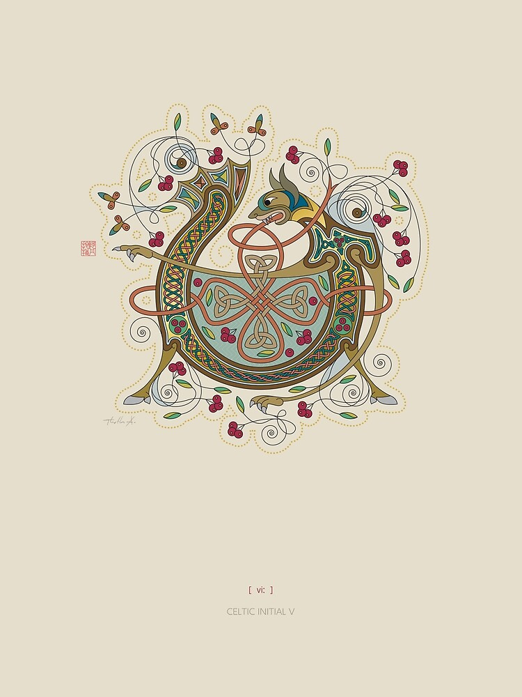 Celtic Initial V by Thoth-Adan