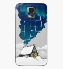Winter Cottage (No Frame) Case/Skin for Samsung Galaxy