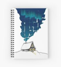 Winter Cottage (No Frame) Spiral Notebook