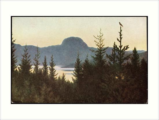 Print Theodor Kittelsen Norwegian Princess Picking Lice From T