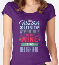 Weather and Wine Women's Fitted Scoop T-Shirt