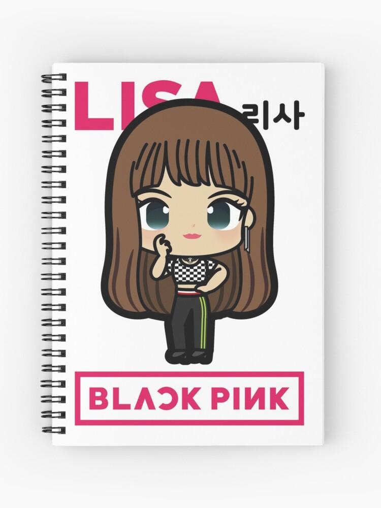 BLACKPINK LISA Cute Chibi Version 2 - Blink Girlband Kpop Korea | Spiral  Notebook