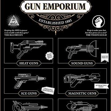 Super Villain Gun Emporium by moviemaniacs
