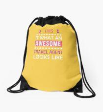 Travel Agent Awesome Looks Funny Birthday Christmas  Drawstring Bag