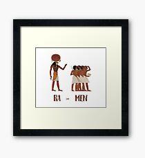 Ancient Egypt Ramen Framed Print