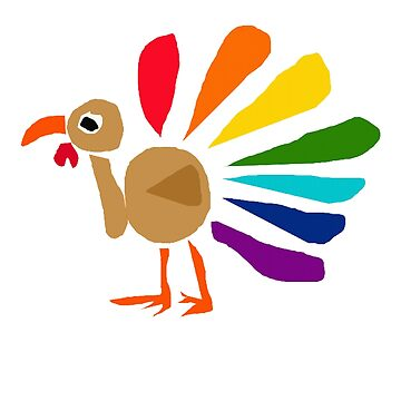 Cool Funny Colorful Turkey Art by naturesfancy
