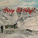 Snowy Scottish Highlands Birthday Card  by EuniceWilkie