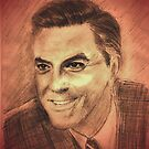 a george clooney drawing by ralphyboy