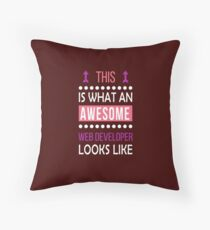 Web Developer Awesome Looks Funny Birthday Christmas  Throw Pillow