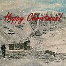 Snowy Scottish Highlands Christmas Card  by EuniceWilkie
