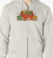 Autumn Fox Zipped Hoodie