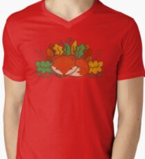Autumn Fox Men's V-Neck T-Shirt