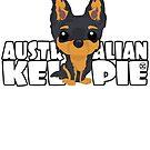 Kelpie (Black & Tan) - DGBigHead by DoggyGraphics