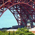 Beneath The Golden Gate Bridge by mcworldent