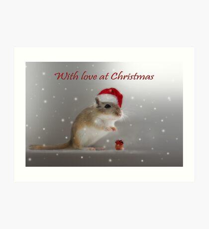 With love at Christmas Art Print
