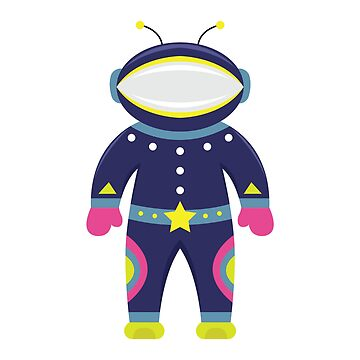 Cartoon flat funny cosmonaut by TatianaPankova