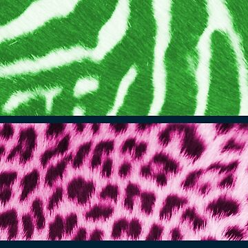 Animal print green and pink by chihuahuashower