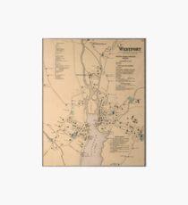 Vintage Map of Westport CT (1867) Art Board