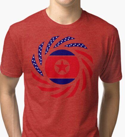 North Korean American Multinational Patriot Flag Series Tri-blend T-Shirt