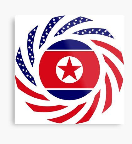 North Korean American Multinational Patriot Flag Series Metal Print
