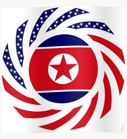 North Korean American Multinational Patriot Flag Series Poster