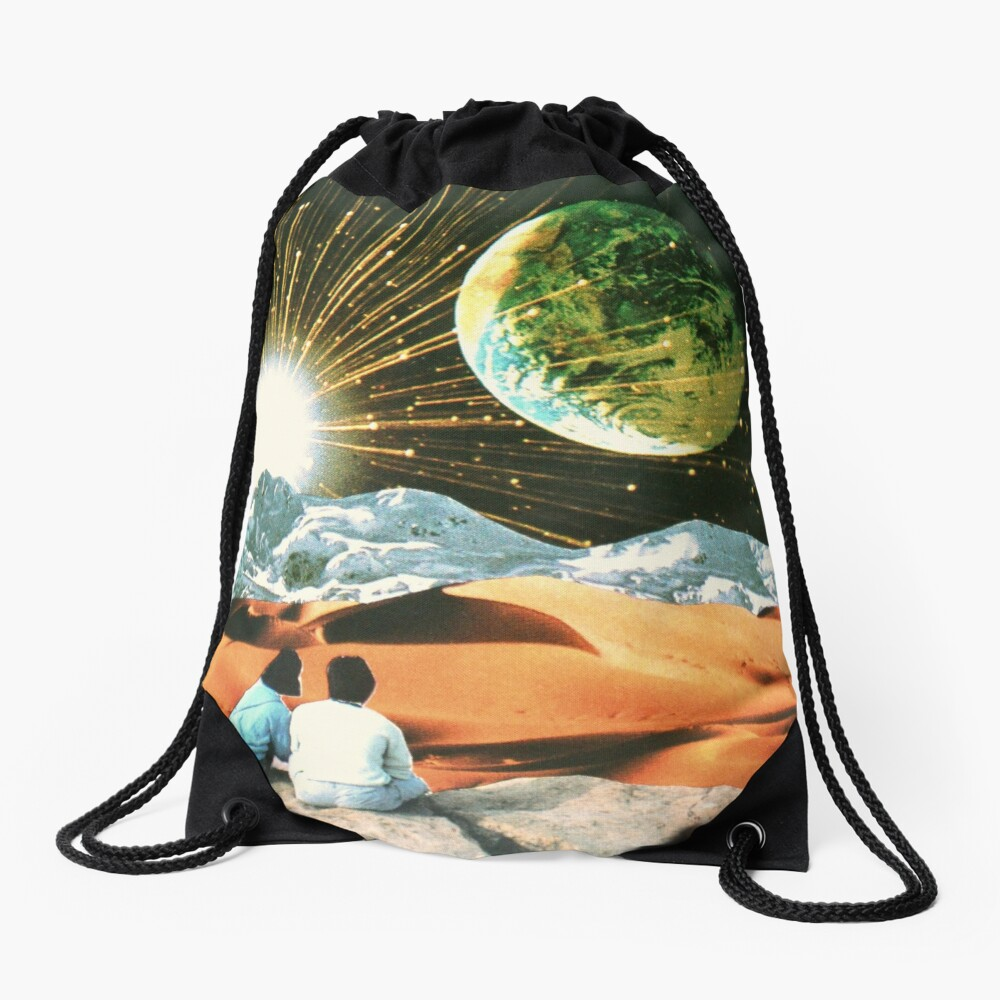 Another Earth Drawstring Bag
