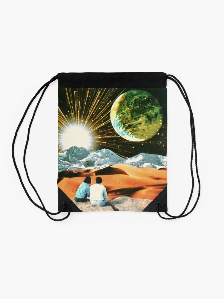 Alternate view of Another Earth Drawstring Bag