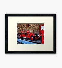 Antique Fire Truck Engine #3 Framed Print